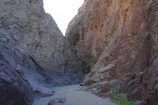 Narrow section of Hot Spring Canyon
