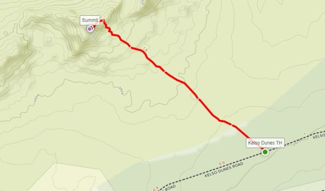 Kelso Dunes Trail map Mojave