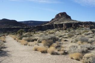 Looking back toward the Banshee Canyon area